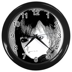 Boy Wall Clocks (black) by snowwhitegirl