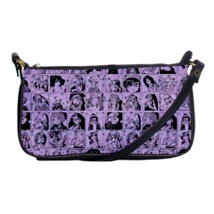 Lilac Yearbok Shoulder Clutch Bags by snowwhitegirl