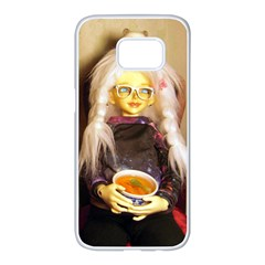 Eating Lunch Samsung Galaxy S7 Edge White Seamless Case by snowwhitegirl