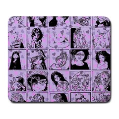 Lilac Yearbook 2 Large Mousepads by snowwhitegirl