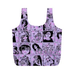 Lilac Yearbook 2 Full Print Recycle Bags (m)  by snowwhitegirl