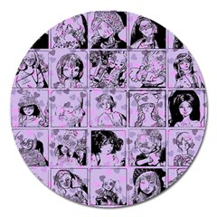Lilac Yearbook 1 Magnet 5  (round) by snowwhitegirl