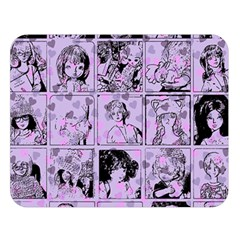 Lilac Yearbook 1 Double Sided Flano Blanket (large)  by snowwhitegirl