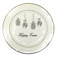 Easter Eggs Porcelain Plates by Valentinaart
