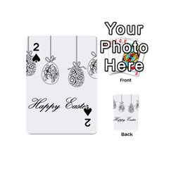 Easter Eggs Playing Cards 54 (mini)  by Valentinaart