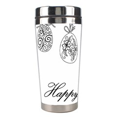 Easter Eggs Stainless Steel Travel Tumblers by Valentinaart