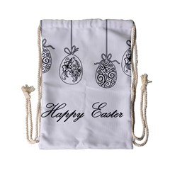 Easter Eggs Drawstring Bag (small) by Valentinaart