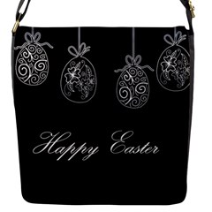 Easter Eggs Flap Messenger Bag (s) by Valentinaart