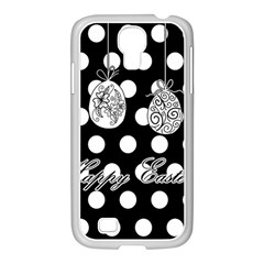 Easter Eggs Samsung Galaxy S4 I9500/ I9505 Case (white) by Valentinaart