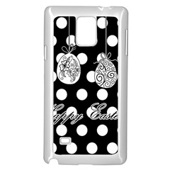 Easter Eggs Samsung Galaxy Note 4 Case (white) by Valentinaart