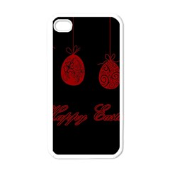 Easter Eggs Apple Iphone 4 Case (white) by Valentinaart