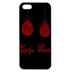 Easter Eggs Apple Iphone 5 Seamless Case (black) by Valentinaart