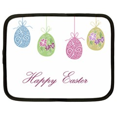 Easter Eggs Netbook Case (xl)  by Valentinaart