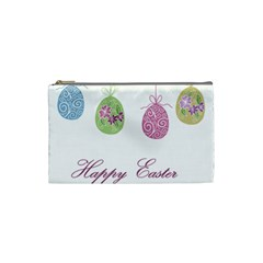 Easter Eggs Cosmetic Bag (small)  by Valentinaart