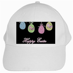Easter Eggs White Cap by Valentinaart