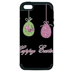 Easter Eggs Apple Iphone 5 Hardshell Case (pc+silicone) by Valentinaart
