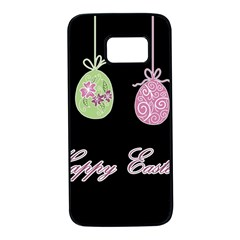 Easter Eggs Samsung Galaxy S7 Black Seamless Case by Valentinaart