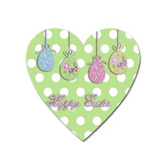 Easter Eggs Heart Magnet by Valentinaart