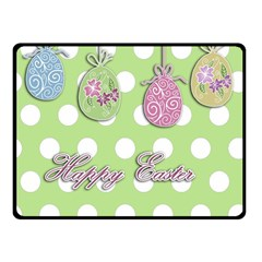 Easter Eggs Fleece Blanket (small) by Valentinaart