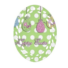 Easter Eggs Ornament (oval Filigree) by Valentinaart