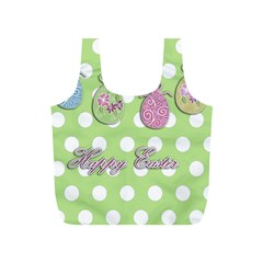 Easter Eggs Full Print Recycle Bags (s)  by Valentinaart