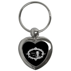 Edgar Allan Poe    Never More Key Chains (heart)  by Valentinaart