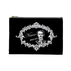 Edgar Allan Poe    Never More Cosmetic Bag (large)  by Valentinaart