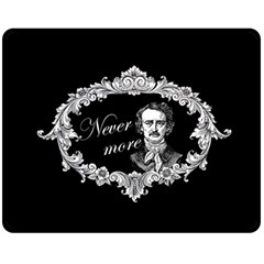 Edgar Allan Poe    Never More Fleece Blanket (medium)  by Valentinaart