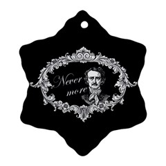 Edgar Allan Poe    Never More Ornament (snowflake) by Valentinaart
