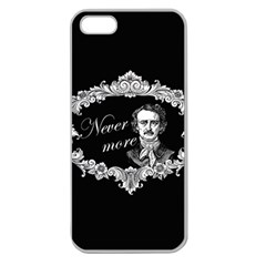 Edgar Allan Poe    Never More Apple Seamless Iphone 5 Case (clear) by Valentinaart