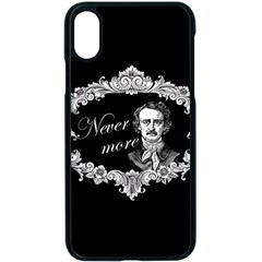 Edgar Allan Poe    Never More Apple Iphone X Seamless Case (black) by Valentinaart
