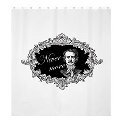 Edgar Allan Poe    Never More Shower Curtain 66  X 72  (large)  by Valentinaart