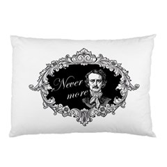 Edgar Allan Poe    Never More Pillow Case (two Sides) by Valentinaart