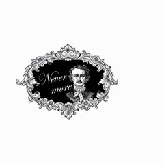 Edgar Allan Poe    Never More Large Garden Flag (two Sides) by Valentinaart