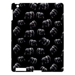 Elephant Pattern Apple Ipad 3/4 Hardshell Case by Valentinaart