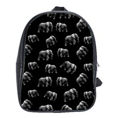 Elephant Pattern School Bag (xl) by Valentinaart