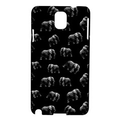 Elephant Pattern Samsung Galaxy Note 3 N9005 Hardshell Case by Valentinaart