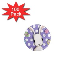 Easter Bunny  1  Mini Magnets (100 Pack)  by Valentinaart