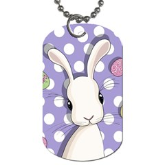 Easter Bunny  Dog Tag (two Sides) by Valentinaart