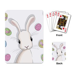 Easter Bunny  Playing Card by Valentinaart