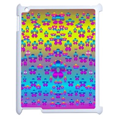 Flowers In The Most Beautiful Sunshine Apple Ipad 2 Case (white) by pepitasart