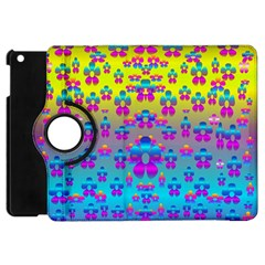 Flowers In The Most Beautiful Sunshine Apple Ipad Mini Flip 360 Case by pepitasart