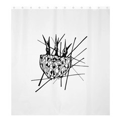Bird Shower Curtain 66  X 72  (large)  by ValentinaDesign