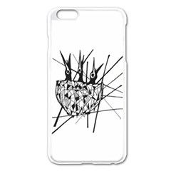 Bird Apple Iphone 6 Plus/6s Plus Enamel White Case by ValentinaDesign