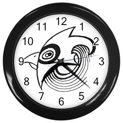 Bird Wall Clocks (black) by ValentinaDesign