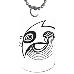 Bird Dog Tag (one Side) by ValentinaDesign