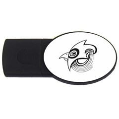 Bird Usb Flash Drive Oval (4 Gb) by ValentinaDesign