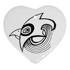 Bird Heart Ornament (two Sides) by ValentinaDesign
