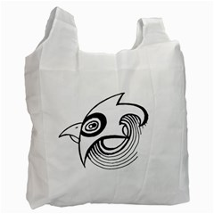 Bird Recycle Bag (one Side) by ValentinaDesign