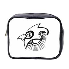 Bird Mini Toiletries Bag 2 Side by ValentinaDesign